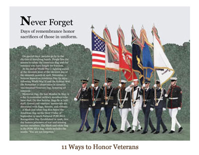 11 Ways to Honor Veterans from N is for Never Forget