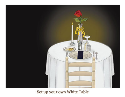 Set up your own White Table